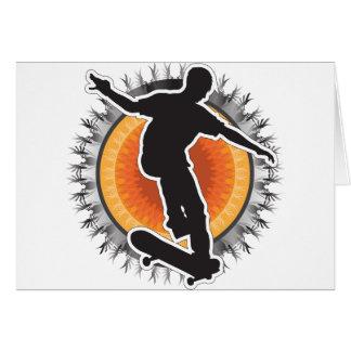 スケートボーダーのデザイン グリーティングカード