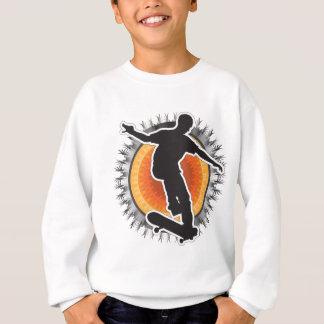 スケートボーダーのデザイン スウェットシャツ
