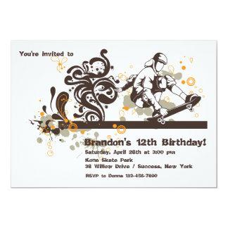 スケートボーダーの招待状 12.7 X 17.8 インビテーションカード