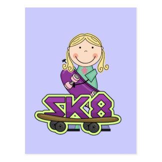 スケートボーダーの極度なスポーツ-ブロンドの女の子 ポストカード