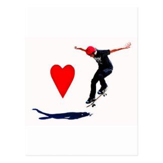 スケートボーダー はがき