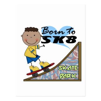 スケートボーダー-アフリカ系アメリカ人の男の子 ポストカード
