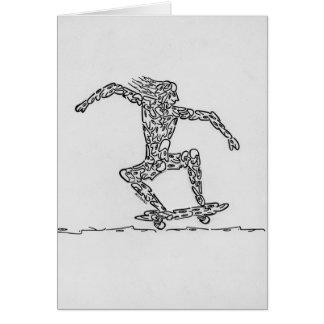 スケートボーダー グリーティングカード