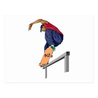 スケートボーダー ポストカード