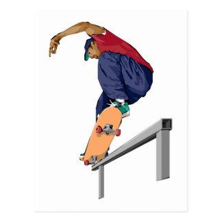 スケートボーダー 葉書き