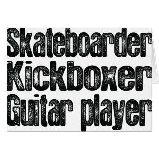 スケートボーダー、Kickboxerのギター奏者 グリーティングカード