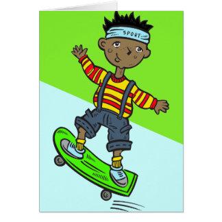 スケートボードの男の子 カード