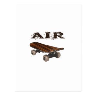 スケートボードの空気10代のな子供の人のスケートボーダー ポストカード
