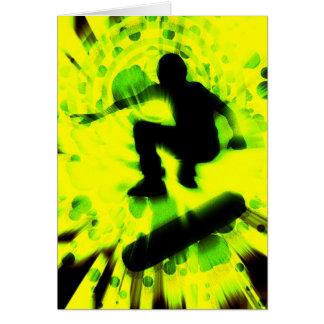 スケートボードの軽い爆発 ノートカード