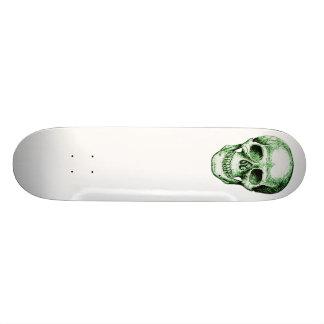 スケートボードの1つの緑のスカル スケートボード