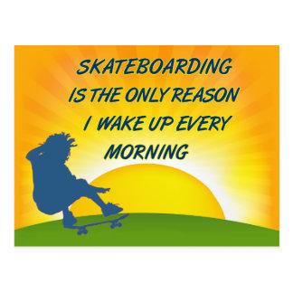 スケートボードをすることは郵便はがきを目覚めます ポストカード