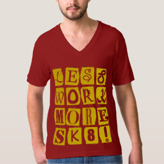 スケートボードをするスピーチの黄色 Tシャツ