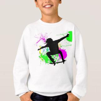 スケートボードをする極端 スウェットシャツ