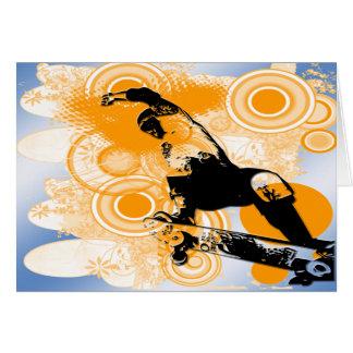 スケートボードをする空気 グリーティングカード
