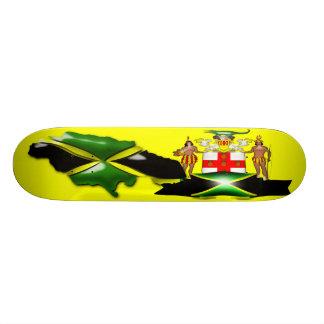 スケートボードジャマイカの紋章付き外衣 18.4CM ミニスケートボードデッキ