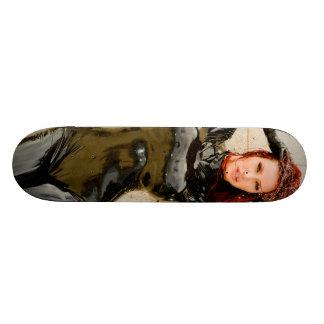 スケートボード-黒い乳液- Bianca Beauchamp 21.6cm オールドスクールスケートボードデッキ