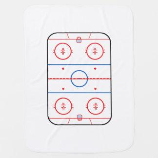 スケートリンクの図表のホッケーの試合のグラフィック ベビー ブランケット