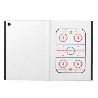 スケートリンクの図表のホッケーの試合のデザイン iPad AIRケース