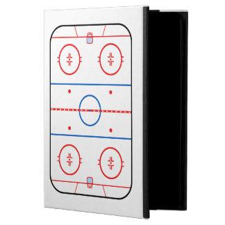 スケートリンクの図表のホッケーの試合の装飾 iPad AIRケース