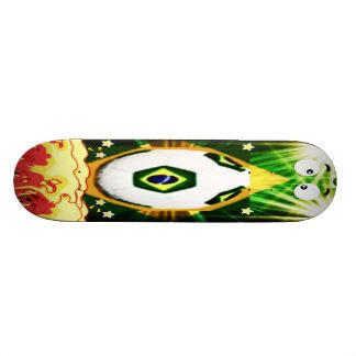 スケート板ブラジルのワールドカップのサッカー 19.7CM スケートボードデッキ