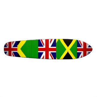 スケート板旗のジャマイカの英語 18.7CM ミニスケートボードデッキ