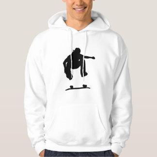 スケート選手のフード付きスウェットシャツ パーカ