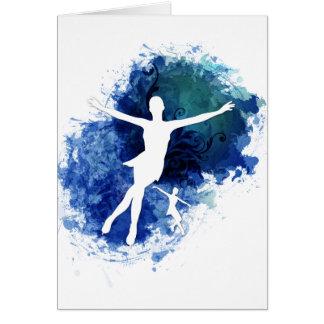 スケート選手の青の背景 カード