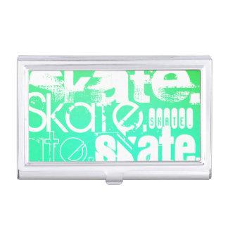 スケート; 水、ネオン緑の勾配 名刺入れ