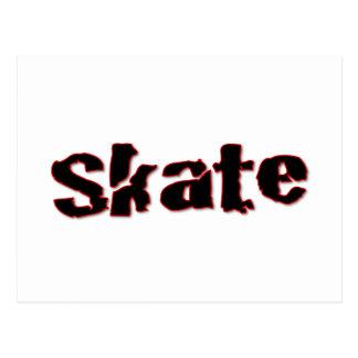 スケート 葉書き
