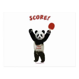 スコアのパンダの卓球 ポストカード
