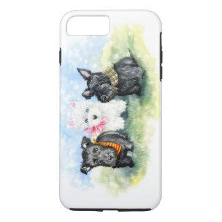 スコッチテリアおよびWestieの子犬の魔法 iPhone 7 Plusケース