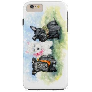 スコッチテリアおよびWestieの子犬の魔法 Tough iPhone 6 Plus ケース