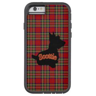 スコッチテリアのえんじ色の格子縞 TOUGH XTREME iPhone 6 ケース