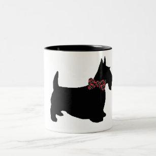 スコッチテリアのコーヒー・マグ ツートーンマグカップ