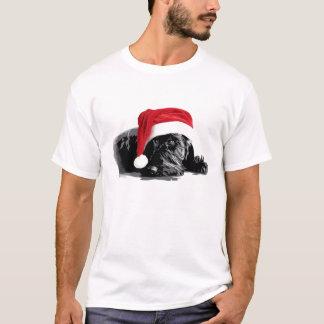 スコッチテリアのサンタの帽子のTシャツ Tシャツ