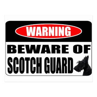 スコッチテリアのスコットランドの監視 ポストカード
