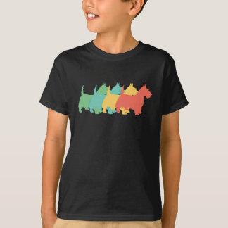 スコッチテリアのレトロのポップアート Tシャツ