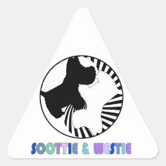 スコッチテリア及びWestie 三角形シール