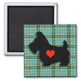 スコッチテリア愛ハートの磁石 マグネット