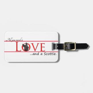 スコッチテリア愛荷物のラベル ラゲッジタグ