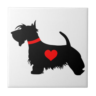 スコッチテリア犬のタイル タイル