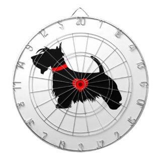 スコッチテリア犬のダート盤 ダーツボード