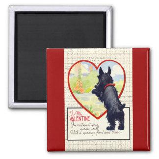 スコッチテリア犬のバレンタインのスコットランド人テリア マグネット