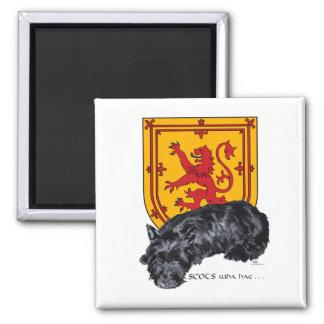スコッチテリア犬のライオンの手がつけられない旗 マグネット
