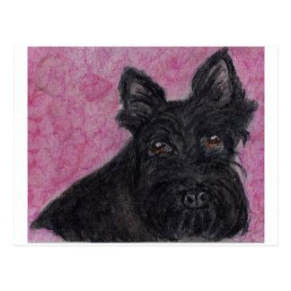 スコッチテリア犬スコットランドテリアの郵便はがきは集まります送ります ポストカード
