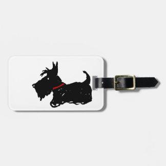 スコッチテリア犬 ラゲッジタグ