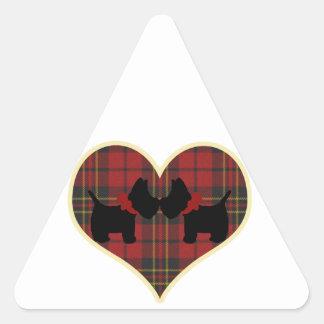 スコッチテリア 三角形シール
