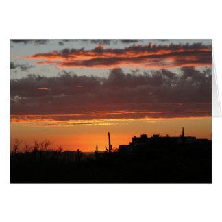スコッツデール上の日没 カード