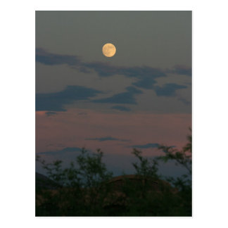スコッツデール上の満月 ポストカード