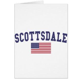 スコッツデール米国の旗 カード